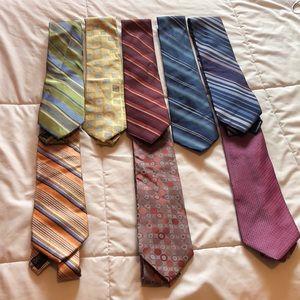 8 Perry Ellis neck ties